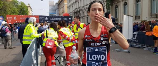 elena loyo maraton de milan