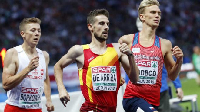 Alvaro de Arriba queda segundo en los 800m de la reunión de Rovereto (Italia)